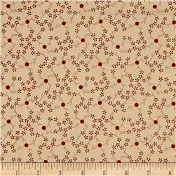 Heritage Red Flower/Dot Tan
