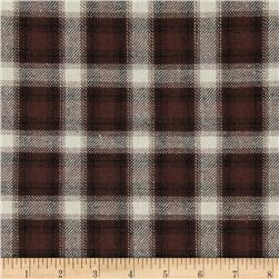 Yarn Dyed Flannel Plaid Brown/Cream
