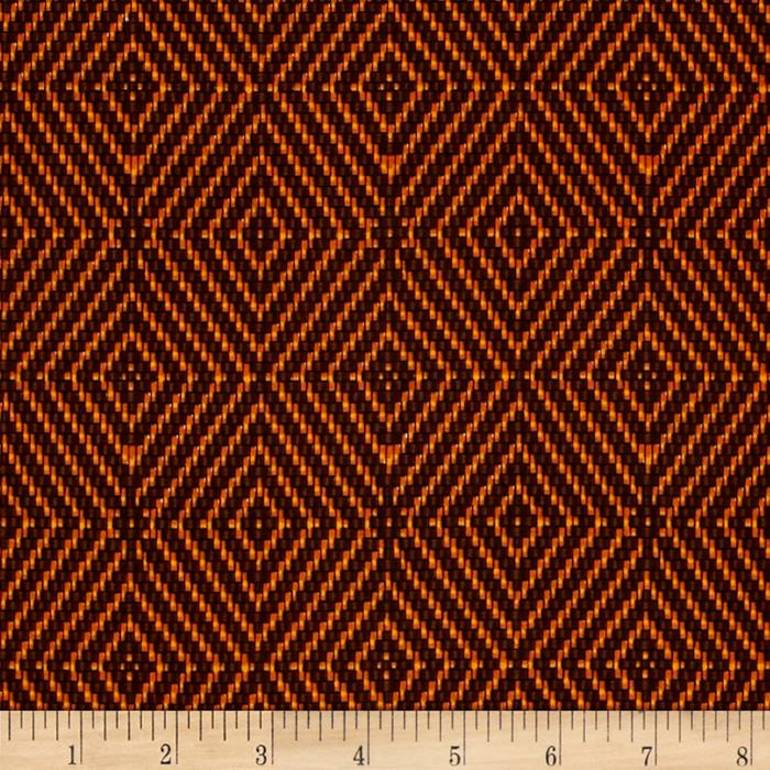 Timeless Treasures African Sunset Basketweave Geo Brown
