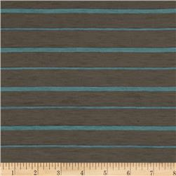 Rayon Jersey Knit Stripes Brown/Aqua Fabric