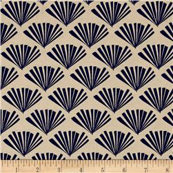 Moda Valley Fringe Bisque-Navy