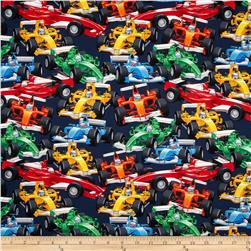 Timeless Treasures Indy Race Cars Multi Fabric