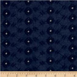 Cotton Eyelet Circular Navy