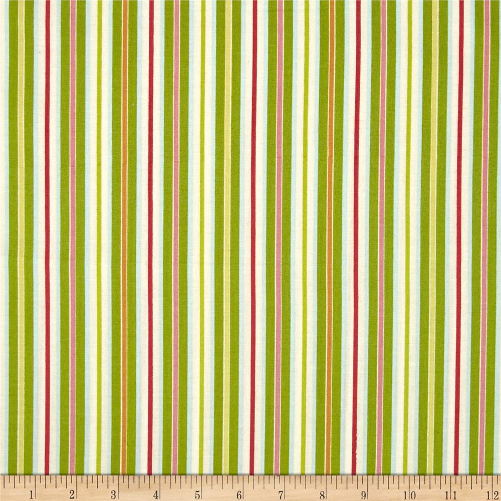Rainbow Garden Stripe Green