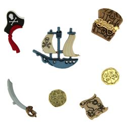Dress It Up Embellisment Buttons  Pirates