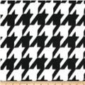Fleece Print Large Houndstooth Black/White