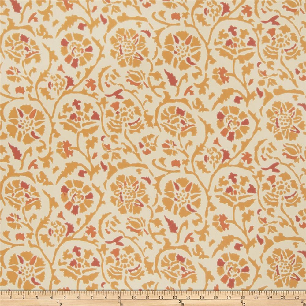 Fabricut 50035w Rosette Wallpaper Canyon 04 (Double Roll)