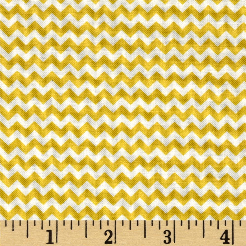 Fabric Freedom Construction Chevron Yellow