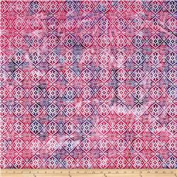 Indian Batik Montego Bay Patchwork  Rose/Purple/Silver