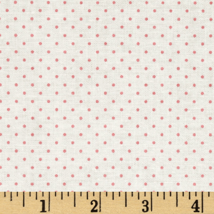 Riley Blake Think Pink Dots Cream