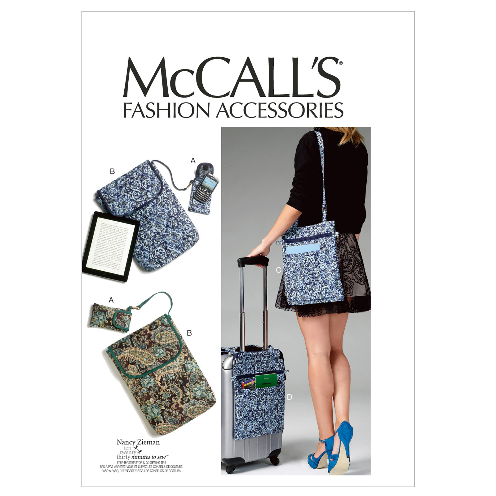 McCall's Cell Phone/Computer Sleeves and Bags Pattern M6668 Size OSZ