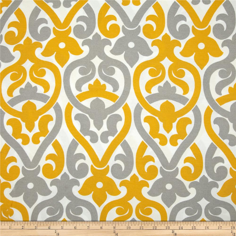 Discount outdoor fabric by the yard - Premier Prints Indoor Outdoor Alex Yellow Grey Discount Designer Fabric Fabric Com