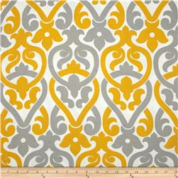 Premier Prints Indoor/Outdoor Alex Yellow/Grey Fabric
