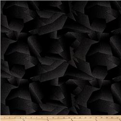 Interlock Knit Abstract Black