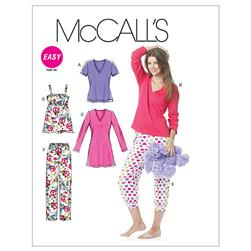 McCall's Misses'/Women's Tops, Nightshirt And Pants Pattern M6250 Size B50