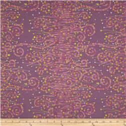 Enchantment Metallics Scroll Purple Fabric