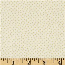 Confetti Sparkle Metallic Mini Dots Cream