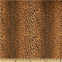 Leopard Cotton Duck Brown/Black