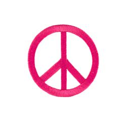 Peace Sign with Large Ray Applique Fuchsia