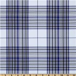 Yarn Dyed Plaid Suiting Royal/Black