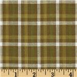 Yarn-Dyed Plaid Shirting Sage Green