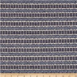 Waverly Admiral Chenille Jacquard Stripe Baltic