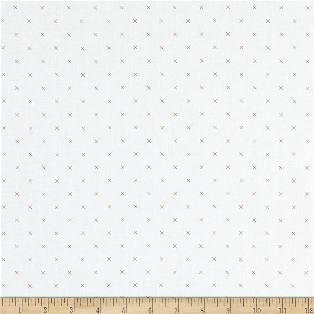 Riley Blake Bee Backgrounds Cross Stitch Brown