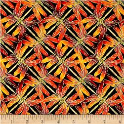 Kanvas Sun Valley Metallic Sunset Dragonfly Black/Orange