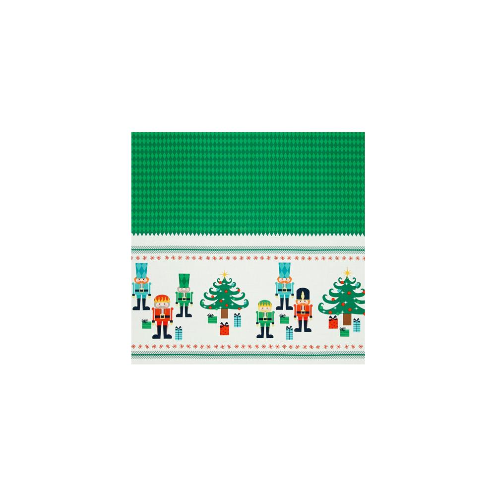 Riley Blake Nutcracker Christmas Border Print Panel Green