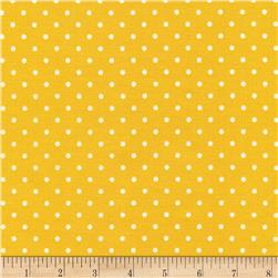 Timeless Treasures Polka Dots Yellow Fabric
