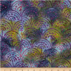 Indian Batik Color Crystals Geo Purple/Blue