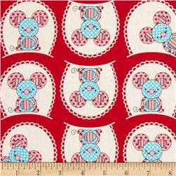 Patterned Mouse Red