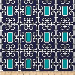 Michael Miller Midnite Gems Lauren Teal Fabric