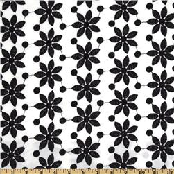 Rebecca Embroidered Poplin Flower Black
