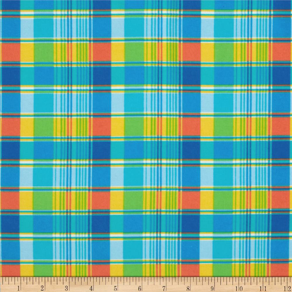 Fabri-Quilt Cuddle Flannel Plaid Blue/Yellow