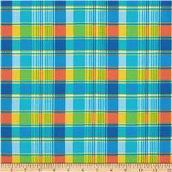 Fabri-Quilt Cuddle Flannel Plaid Blue/Yellow Fabric