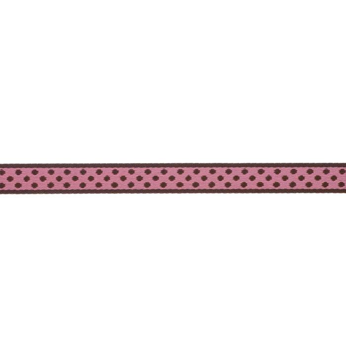 7/16'' Ribbon Polka Dot Pink/Brown
