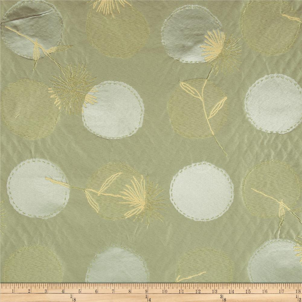 Robert Allen Promo Stitch Spheres Satin Jacquard Mist Fabric By The Yard