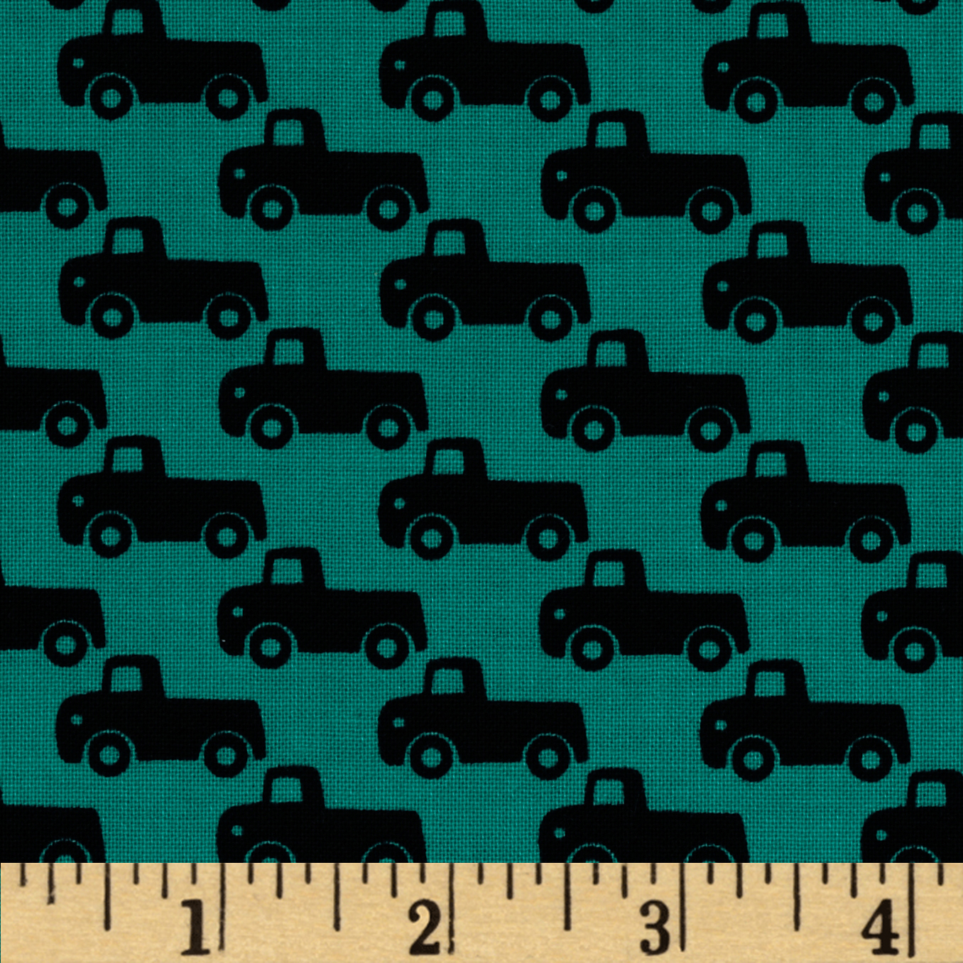 Michael Miller Tiny Trucks Teal