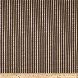 Home Accents Calcutta Jacquard Stripe Dusk Brown Fabric