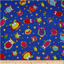Happy Owl-O-Ween Owls Everywhere Toss Midnight Blue