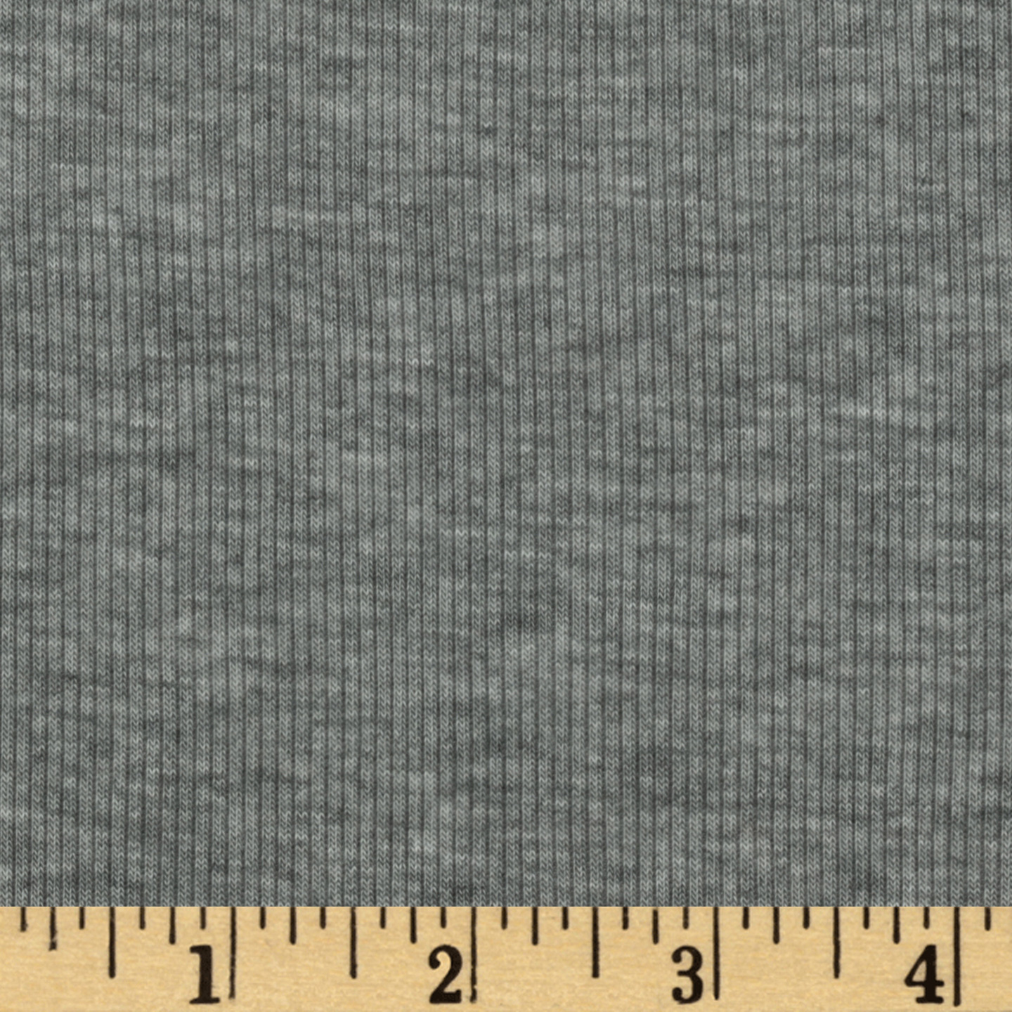 Designer Stretch Rayon Rib Knit Heather Grey Fabric