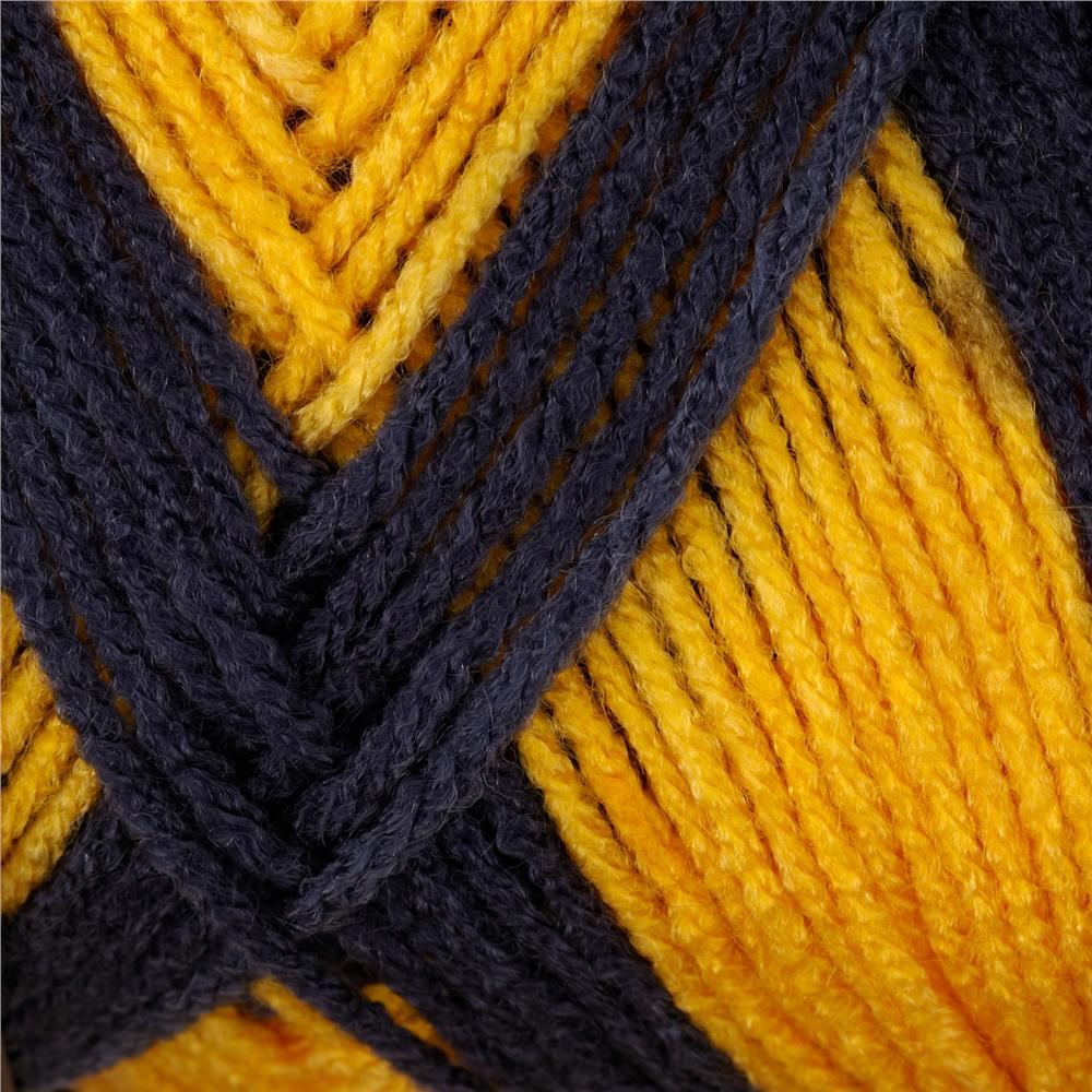 Red Heart Team Spirit Yarn (980) Navy/Gold