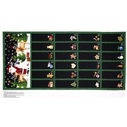 25 Days Til Christmas 24 In. Advent Calender Panel Black/Multi