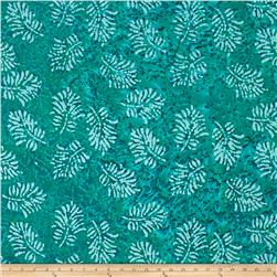 Indian Batik Leaf & Vine Fern Leaf Aqua