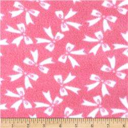 Fleece Bows Pink/White