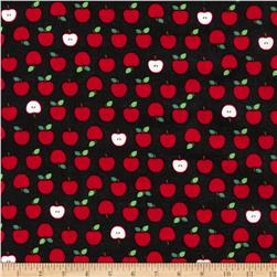 Kaufman Sevenberry Mini Prints Apples Black