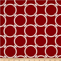 Premier Prints Indoor/Outdoor Linked Rojo Red Fabric