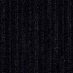 Poor Boy Rib Knit Solid Black