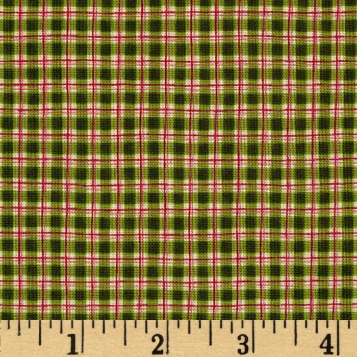 Jingle All the Way Sleigh Bell Plaid Holly Green